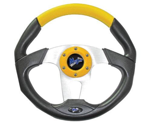 Image of the Transformer Collection Yellow Steering Wheel accessory.