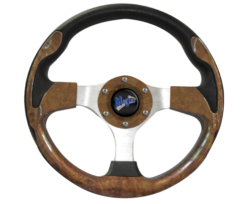 Image of the Ultra Collection Woodgrain Steering Wheel accessory.