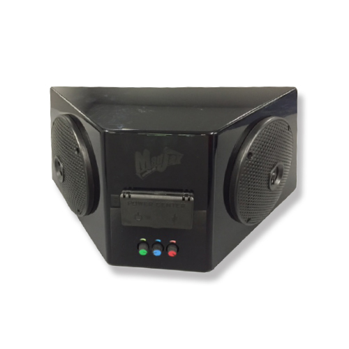 Image of the Madjax Speaker Box Kit with Built in bluetooth miniamp 5 inch speakers and power center accessory.