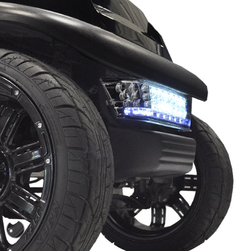 Image of the LED light bar bumper kit Club Car Precedent accessory.