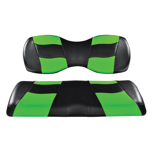 Image of the RIPTIDE Black Lime Cooler Green Two Tone Seat Covers accessory.