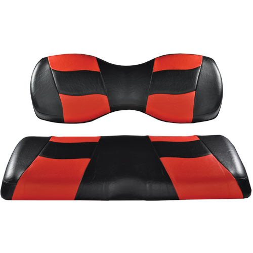 Image of the RIPTIDE Black Red Two Tone Seat Covers accessory.