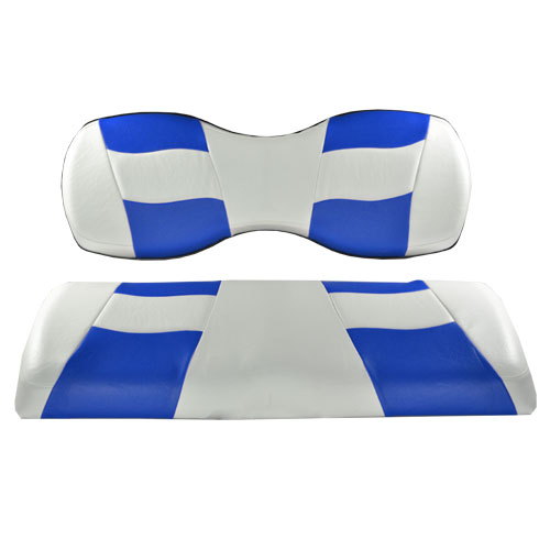 Image of the RIPTIDE White Blue Two Tone Seat Covers accessory.