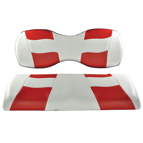 Image of the RIPTIDE White Red Two Tone Seat Covers accessory.