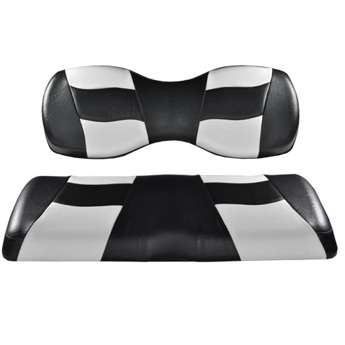 Image of the Riptide Black White Two Tone Seat Covers accessory.