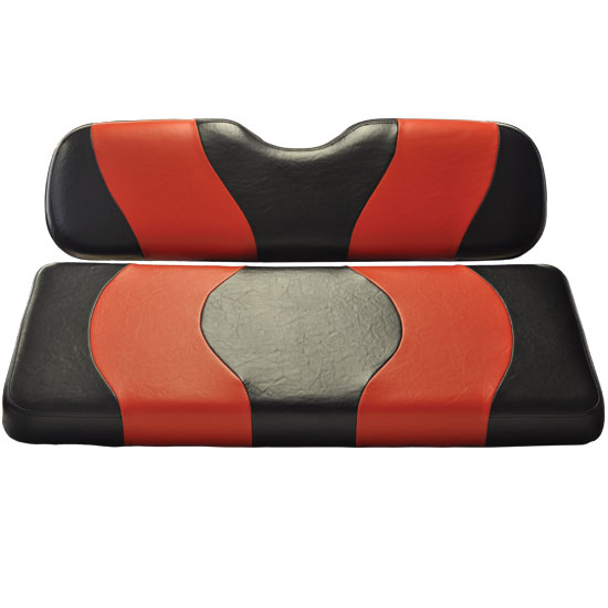 Image of the WAVE Black Red Two Tone Seat Covers accessory.