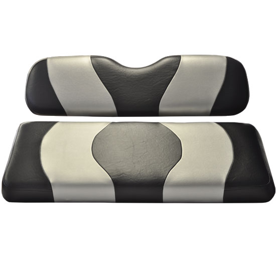 Image of the WAVE Black Silver Two Tone Seat Covers accessory.