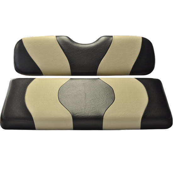 Image of the WAVE Black Tan Two Tone Seat Covers accessory.