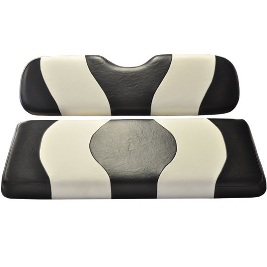 Image of the WAVE Black White Two Tone Seat Covers accessory.