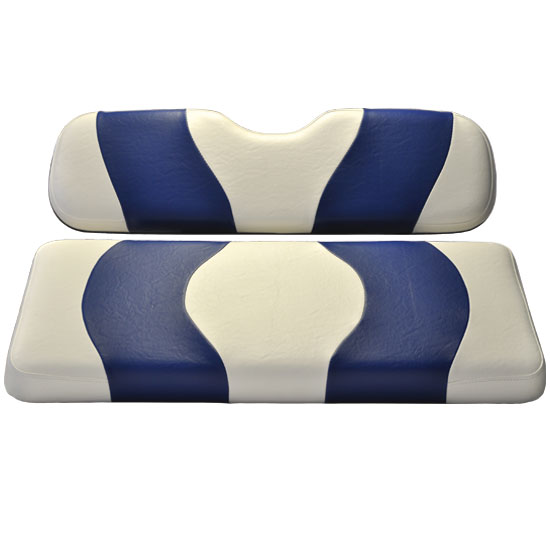 Image of the WAVE White Blue Two Tone Seat Covers accessory.