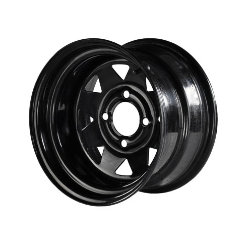 Image of the 12 x 8 Black Steel Wheel accessory.