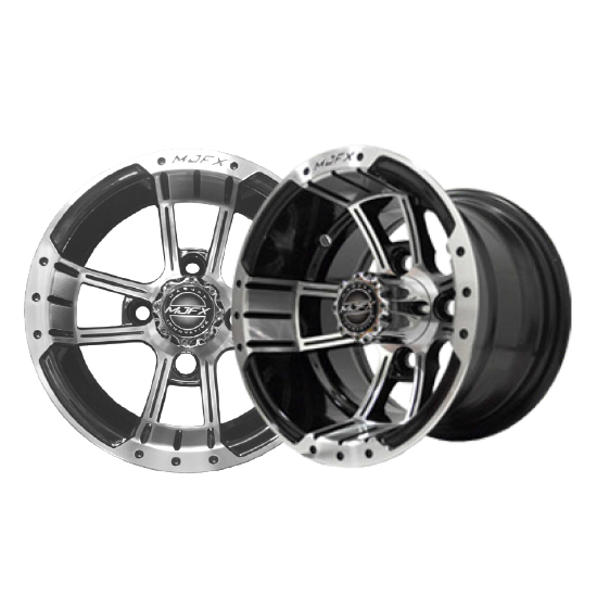 Image of the Apex 10 x 7 Machined Black Wheel accessory.