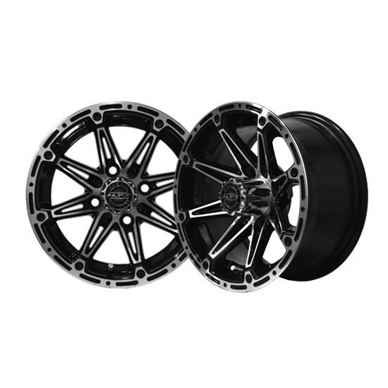 Image of the Element 12 x 6 Machined Black Wheel accessory.