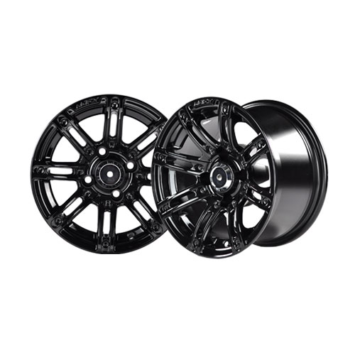 Image of the Illusion 12 x 7 Black Wheel with Silver Inserts accessory.