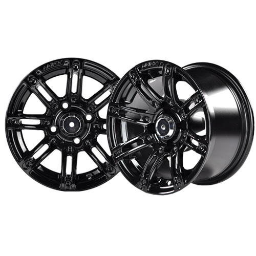 Image of the Illusion 14 x 7 Black Wheel with Silver Inserts accessory.