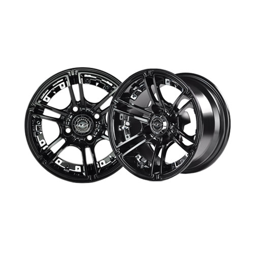 Image of the Mirage 10 x 7 Black Wheel with Center Cap accessory.