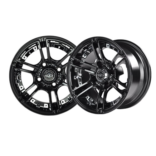 Image of the Mirage 12 x7 Black Wheel with Center Cap accessory.