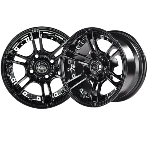 Image of the Mirage 14 X 7 Black Wheel with Center Cap accessory.