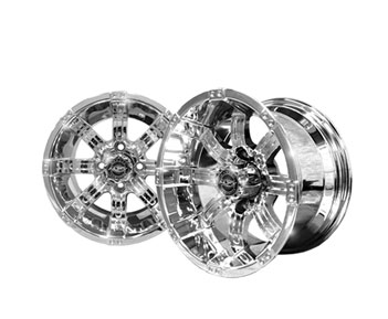 Image of the Octane 12 x 7 Chrome Wheel accessory.