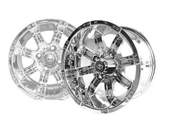 Image of the Octane 14 x 7 Chrome Wheel accessory.