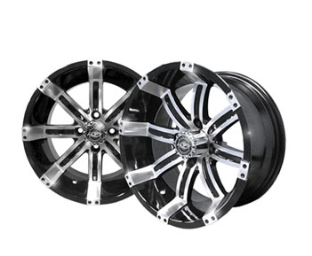 Image of the Octane 14 x 7 Machined Black Wheel accessory.