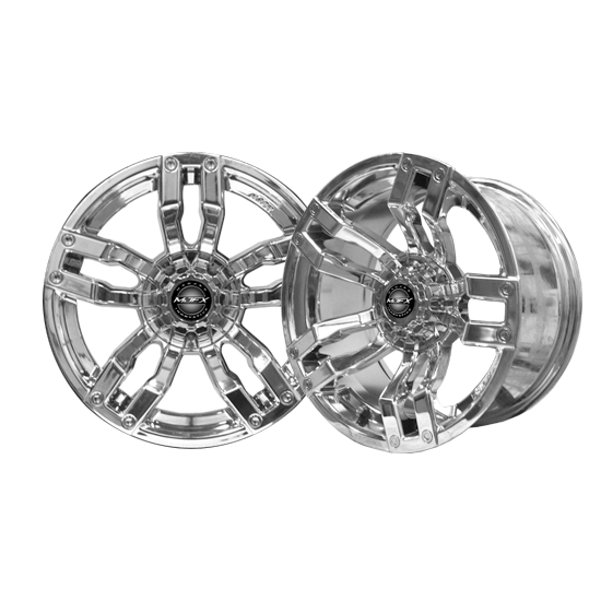 Image of the Velocity 14 x 7 Chrome Wheel accessory.